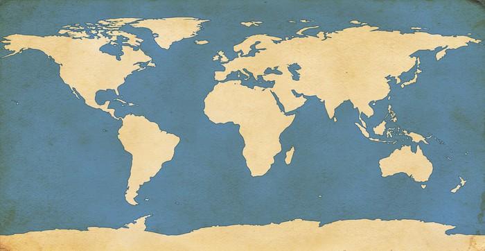 papier peint carte du monde vieillie pixers nous. Black Bedroom Furniture Sets. Home Design Ideas
