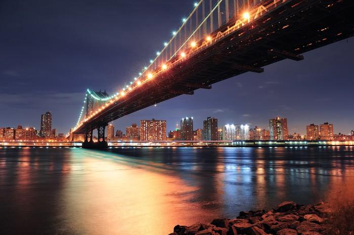 Vinylová Tapeta New York City Manhattan Bridge - Amerika