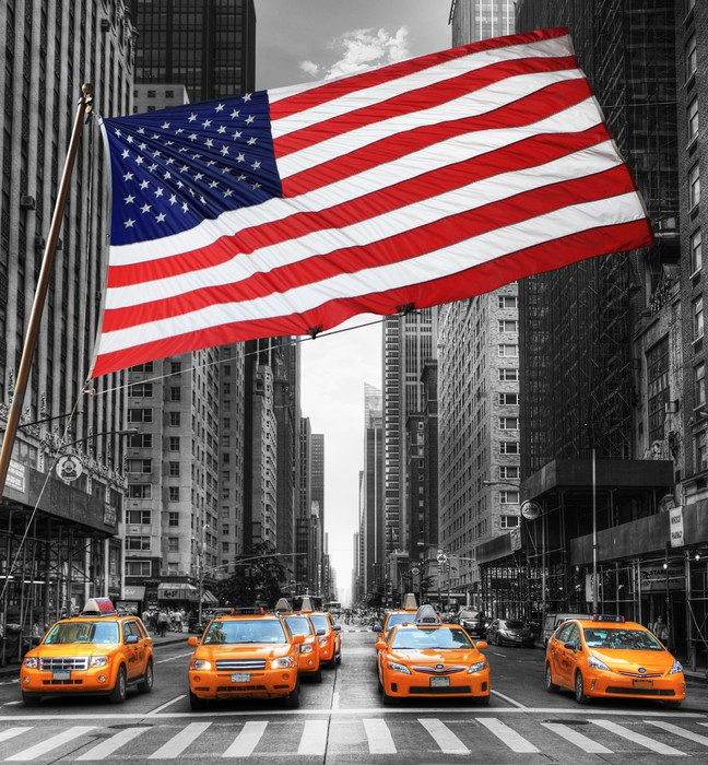 Carta da parati symboles di new york pixers viviamo for Carta da parati new york ebay