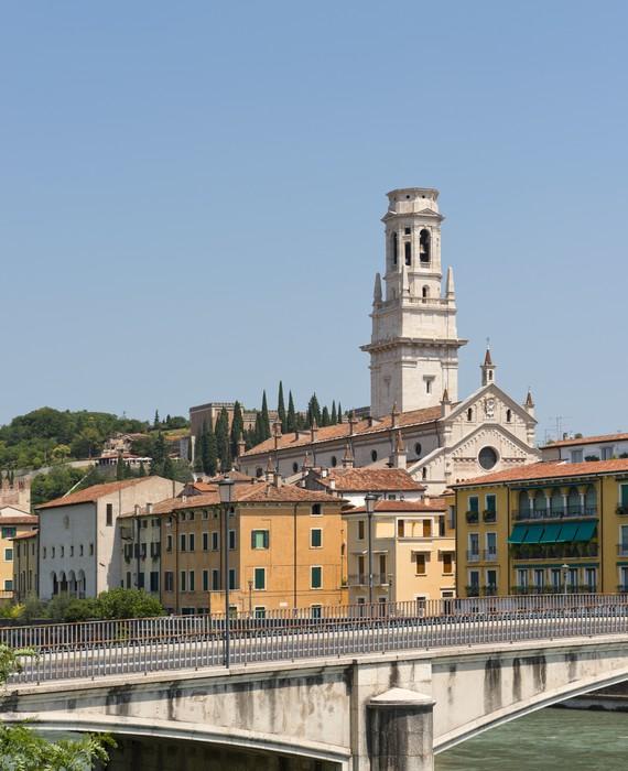 Vinylová Tapeta Most přes řeku Adige Veroně v Itálii - Evropa