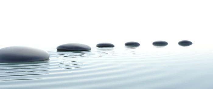 vinilo camino de piedras zen en formato panormico pixerstick - Piedras Zen