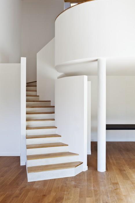 Fototapete modernes haus interior treppe parkett for Modernes haus treppe