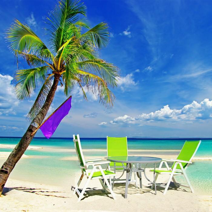 Vinylová Tapeta Relaxační tropické dovolenou - Prázdniny