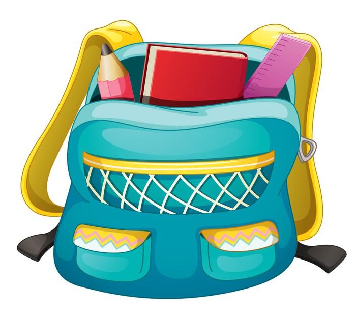 Adesivo sacchetto di scuola pixers viviamo per il for Scuola clipart