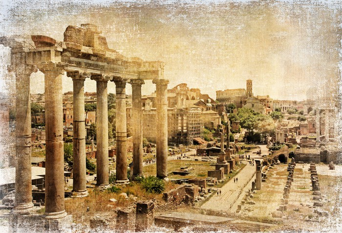 Roman forums - retro picture Wall Mural • Pixers® • We live to change