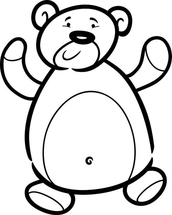 Vinilo para Portátil Peluche oso de dibujos animados para colorear ...