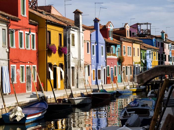 Vinylová Tapeta Ostrov Burano - Benátky, Itálie - Evropská města
