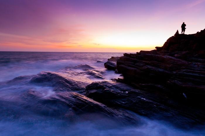 Vinylová Tapeta Krásná Rock Bay v západu slunce barev - Asie