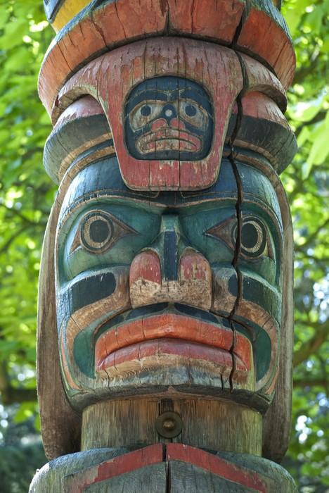 Papier Peint Vinyle Totem Pole - Amérique