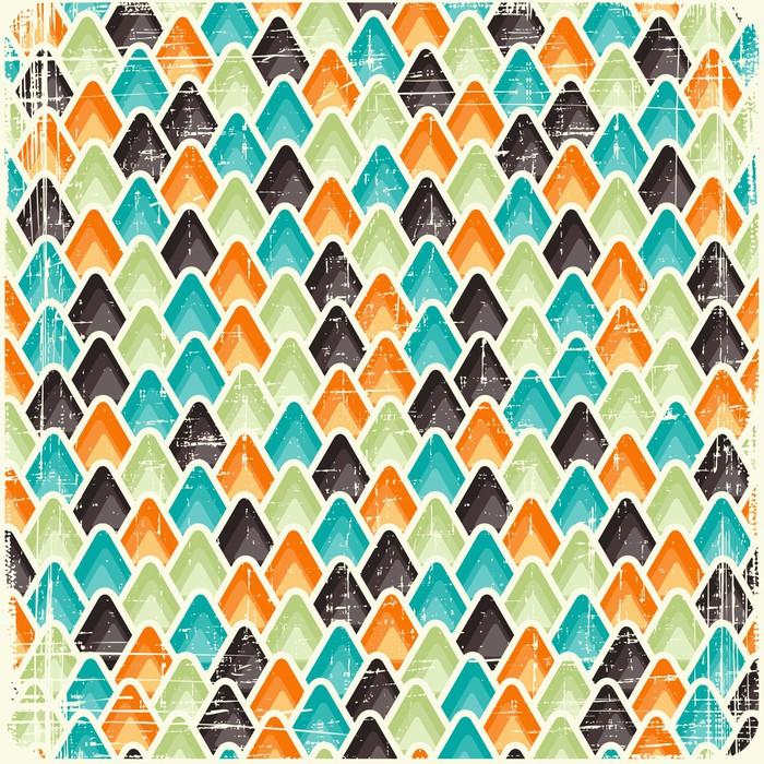 Abstract Retro Geometric Scratched Background Eps8