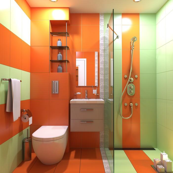 Łazienka wc umywalka wnętrze scena 3d render