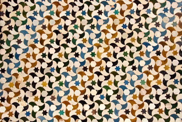 Vinylová Tapeta Mozaika u paláce Alhambra v Granadě, Španělsko - Památky