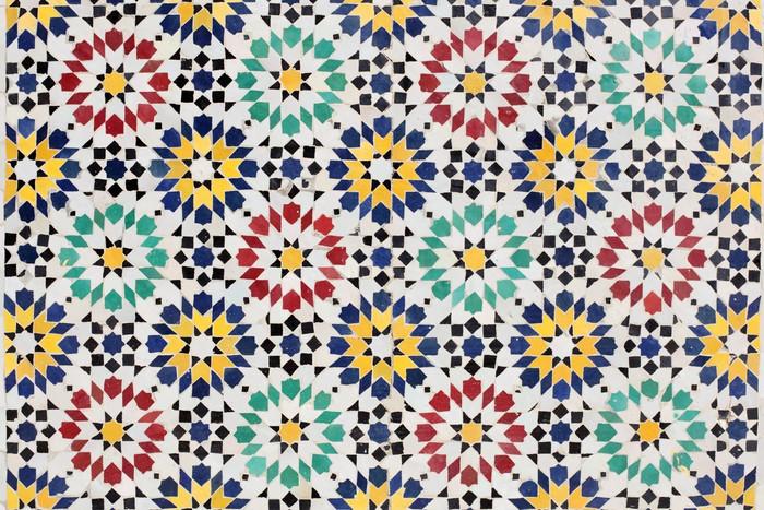 Fototapete bunte mosaik dekoration in rabat marokko for Dekoration mosaik