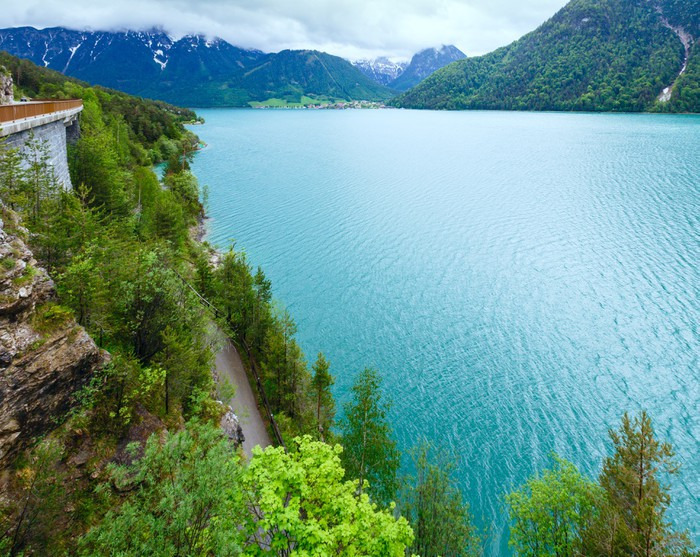 Papel pintado achensee paisaje de verano austria for Papel pintado paisajes