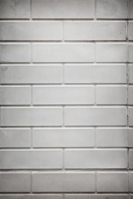 Vinylová Tapeta Pozadí bílou cihlovou zeď. - Těžký průmysl