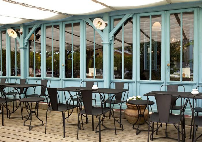 Terrasse Cafe Bistrot Restaurant Bois Mobilier Cabane Wall