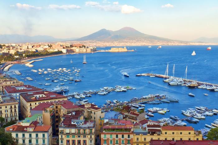 Carta da parati veduta del golfo di napoli pixers for La parati italia