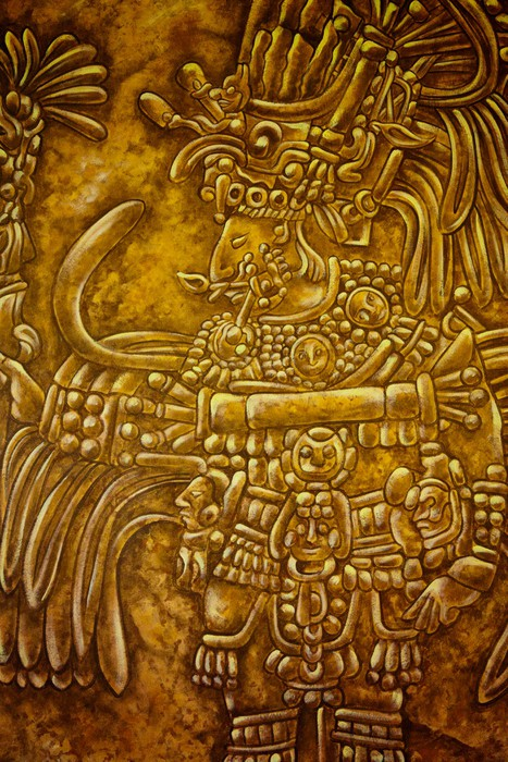 Old Mayan Art Wall Mural • Pixers® • We live to change