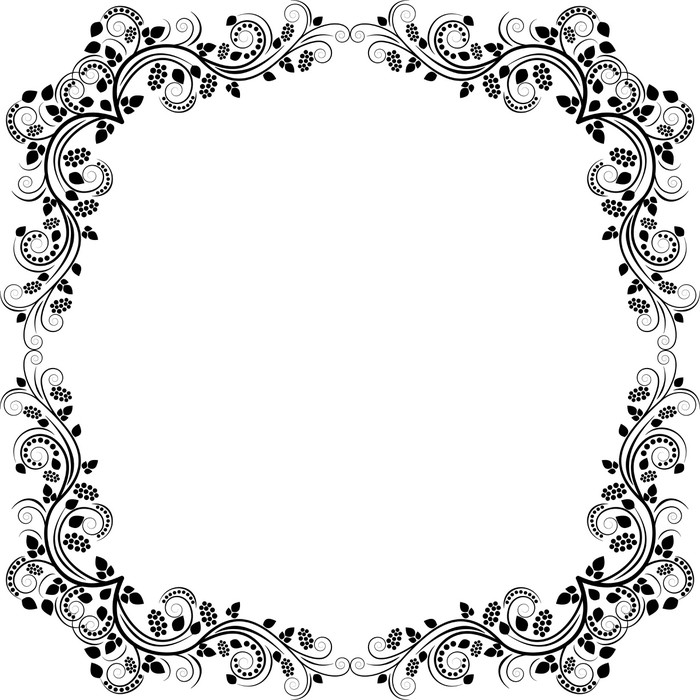 floral frame Poster • Pixers® • We live to change