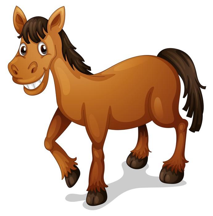 Vinilo pixerstick caballo de dibujos animados pixers - Dibujos de vinilo para paredes ...