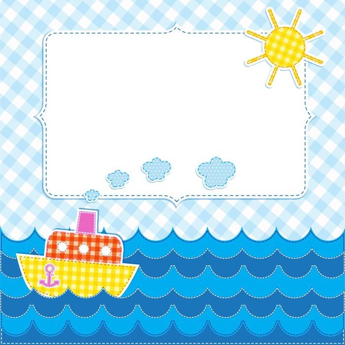 Fotomural Marco con el barco de dibujos animados • Pixers® - Vivimos ...
