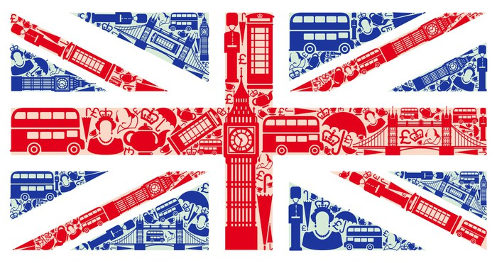 Fototapeta flaga anglii z symboli wielkiej brytanii i - Dibujo bandera inglesa ...