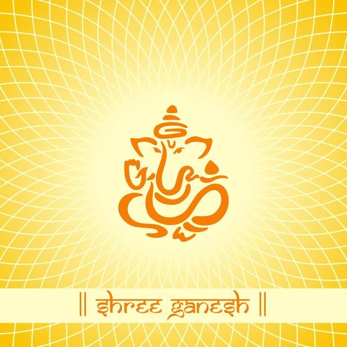 Ganesha, Hindu wedding card, royal Rajasthan, India Poster • Pixers ...