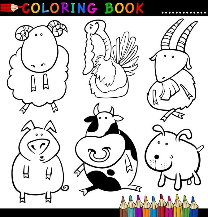 Vinilo Pixerstick Animales para colorear libro o página • Pixers ...