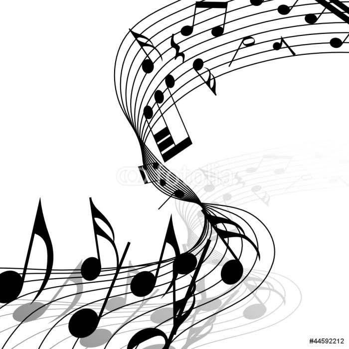 Vinylová Tapeta Hudební - Hudba