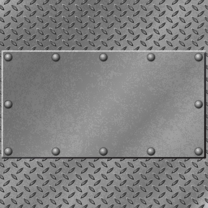 A Metal Background With Tread Plate And Rivets Vinyl Wall Mural Styles