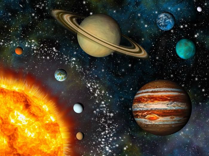 Fototapete Realistic Solar System Display Enth 228 Lt Die