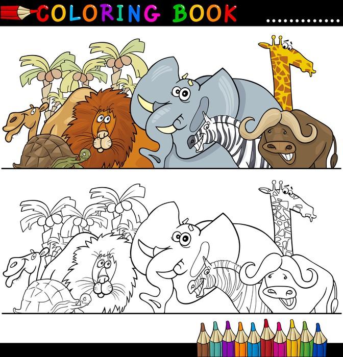 Fotomural Animales Salvajes Safari para colorear • Pixers® - Vivimos ...