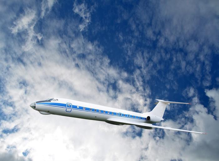 Vinylová Tapeta Osobní letadlo na obloze - Vzduch
