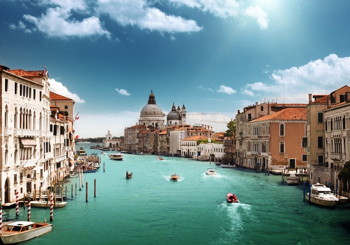Vinylová fototapeta Grand Canal a Santa Maria della Salute bazilika, Benátky, Itálie - Vinylová fototapeta