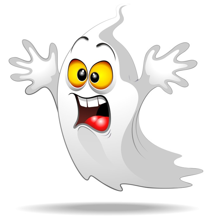Scared Ghost Funny Halloween Cartoon Fantasma Spavento