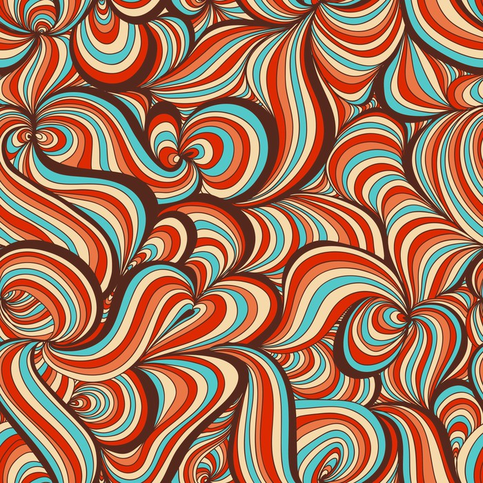 Retro swirls seamless pattern wall mural pixers we for Changer carrelage mural