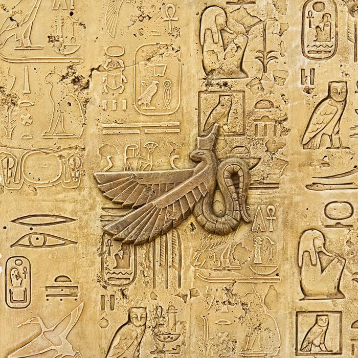 Papier peint ancienne egypte hi roglyphes sculpt s sur la pierre pixers nous vivons pour - Papier peint pierre relief ...