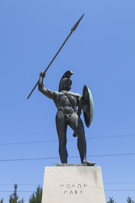 Vinylová Tapeta Leonidas socha, Thermopyly, Řecko - Evropa