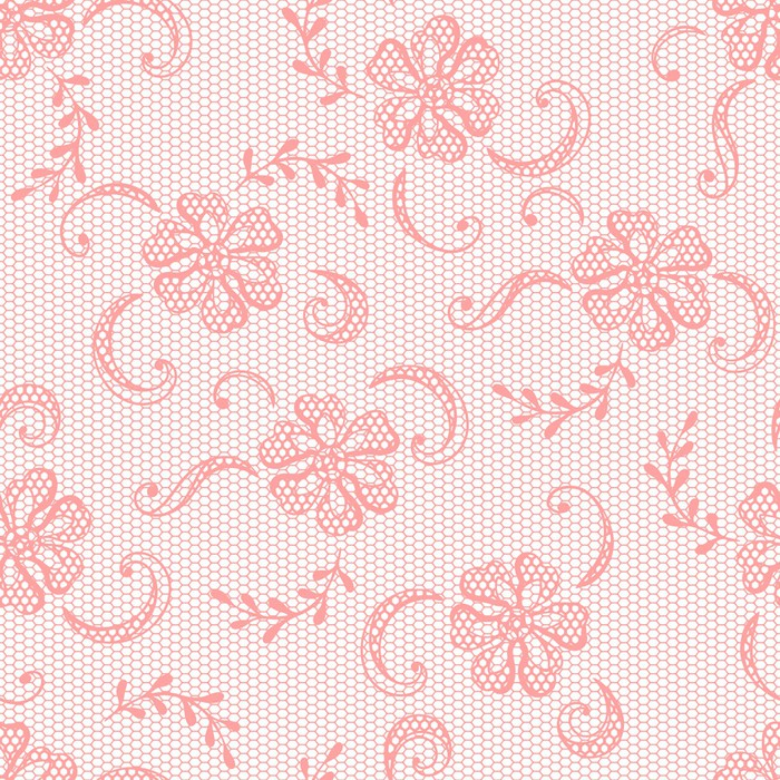 Vintage Lace Background Ornamental Flowers Vector Texture Vinyl Wall Mural