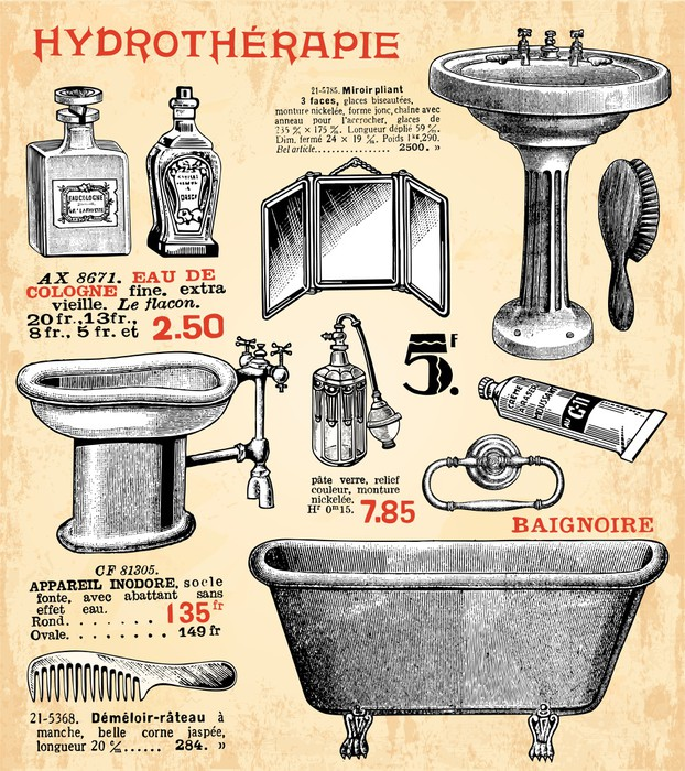 papier peint la salle de bain pixers nous vivons pour. Black Bedroom Furniture Sets. Home Design Ideas