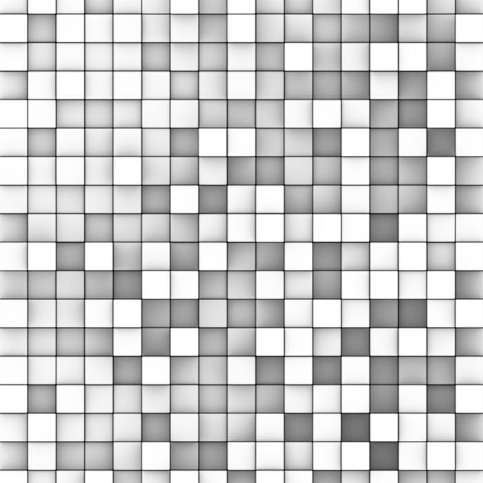 Carta da Parati 3d mosaico sfondo in tonalità di bianco grigio ...