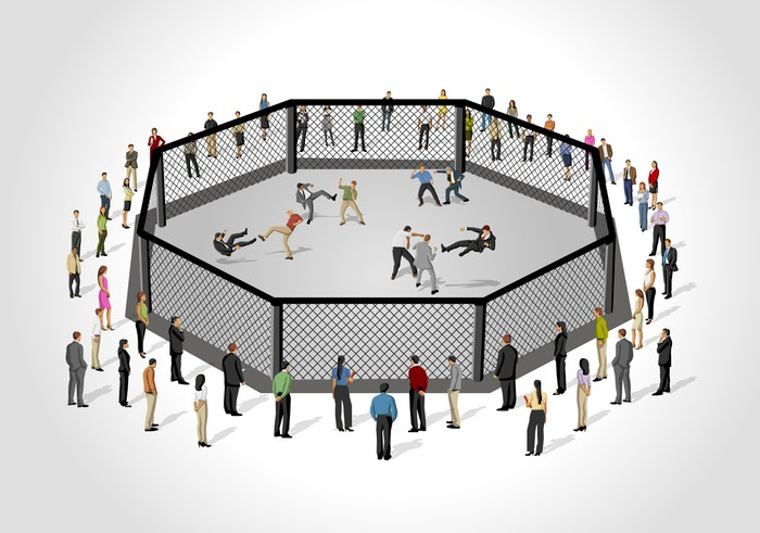 Nálepka Pixerstick Street boj, konflikt mezi obchodníky na osmiúhelníku kruhu - Prvky podnikání