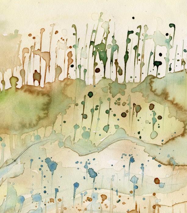 Tableau sur Toile Fond d'aquarelle artistique, - Destin