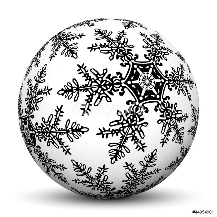 Vinylová Tapeta Kugel, 3D, Weiß, Weihnachten, Sphere, Flocke, Kristall, Deko - Mezinárodní svátky