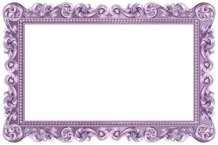 sticker cadre baroque rectangulaire violet pixers nous vivons pour changer. Black Bedroom Furniture Sets. Home Design Ideas