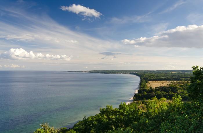 Vinylová Tapeta Idylické moře panorama krajiny v letní sezóně - Evropa