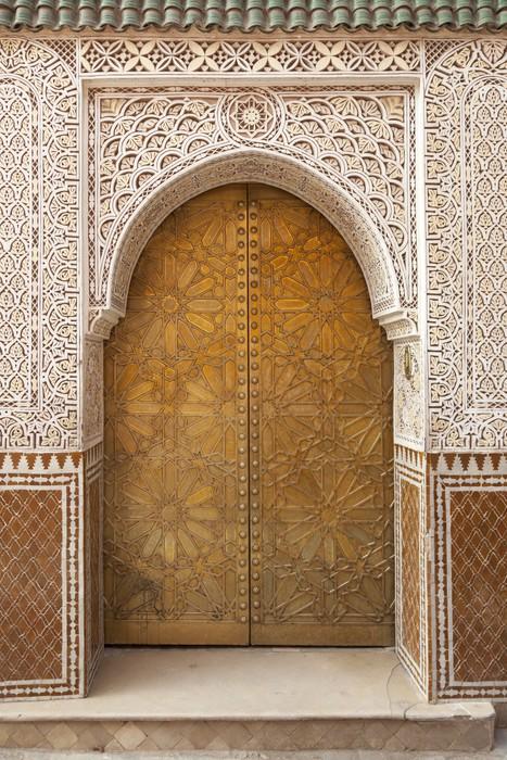 Brass decorated Moroccan door Vinyl Wall Mural - Monuments & Brass decorated Moroccan door Wall Mural u2022 Pixers® u2022 We live to change