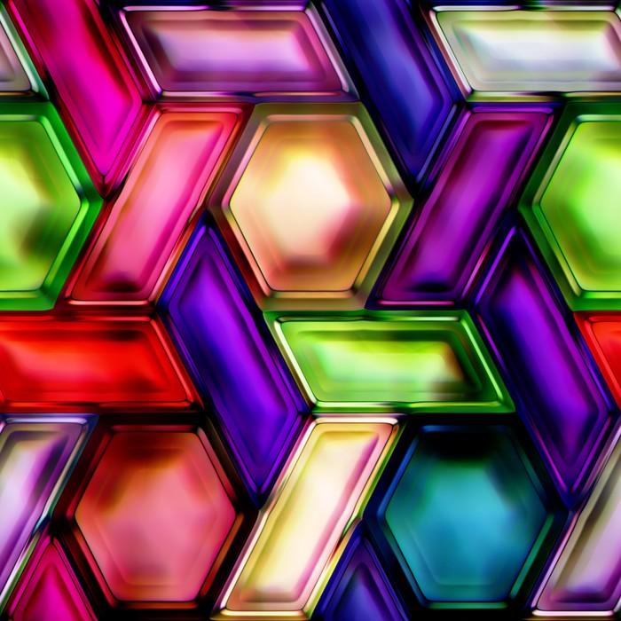 Vinylová Tapeta Bezešvé textury vícebarevné vločky - Témata