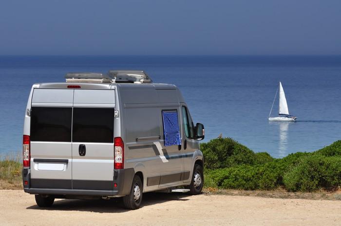 Vinylová Tapeta Camper van na pláži - Na cestě