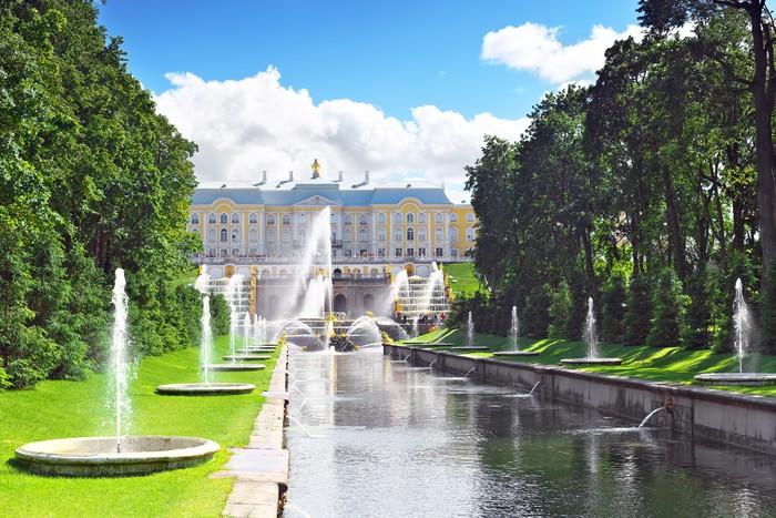 Vinylová Tapeta Grand Cascade v Pertergof, Saint-Petersburg, Rusko. - Asie